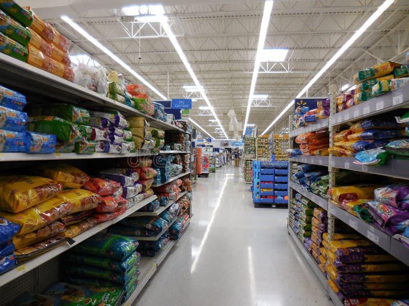 Остров Walmart стоковые изображения