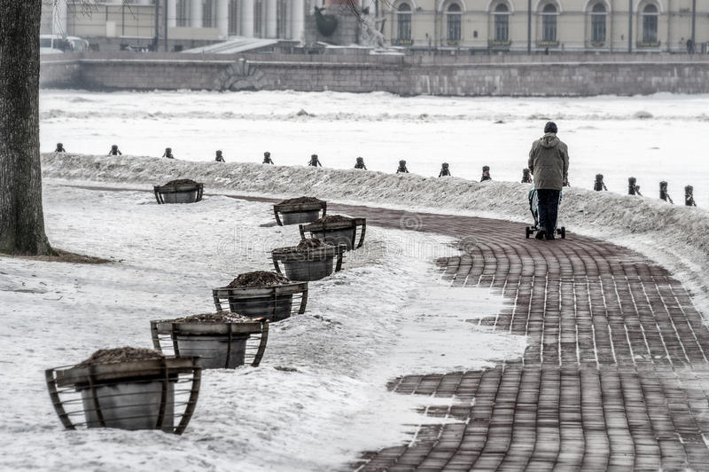 Остров Zayachy в зимнем времени стоковые фотографии rf