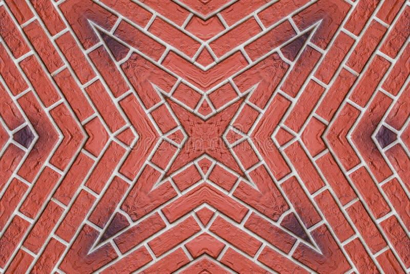 4-остроконечная звезда от красного кирпича стоковая фотография