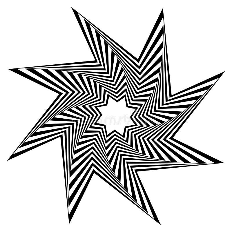 Download Остроконечная, нервная форма вращая внутрь Иллюстрация вектора - иллюстрации насчитывающей гирация, helix: 81808151