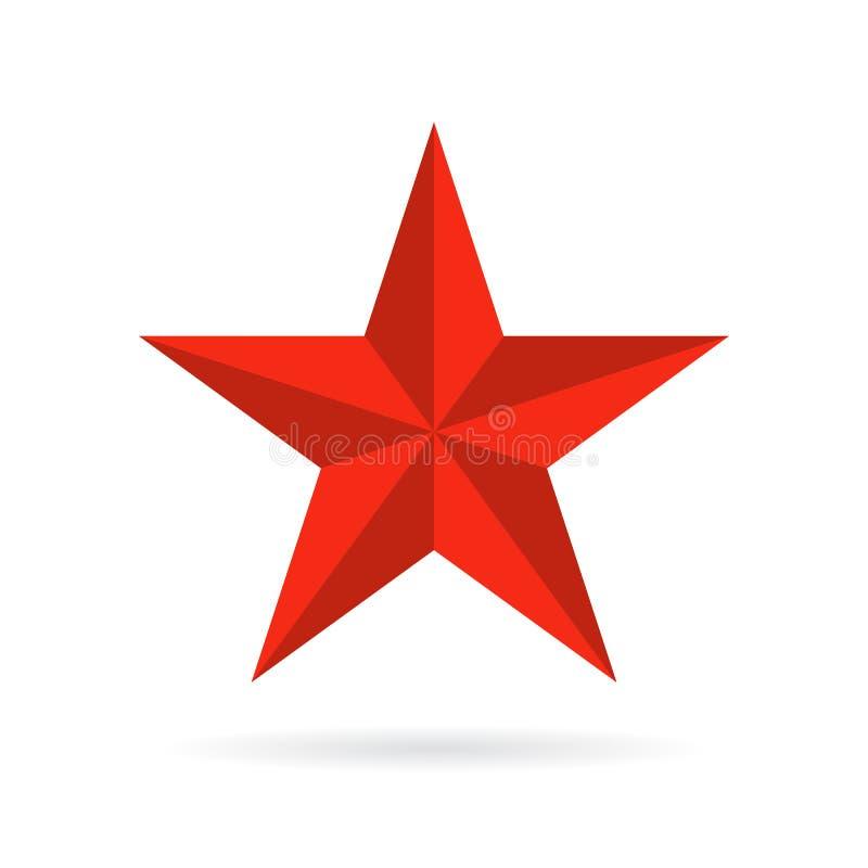 Остроконечный значок вектора звезды 5 иллюстрация вектора