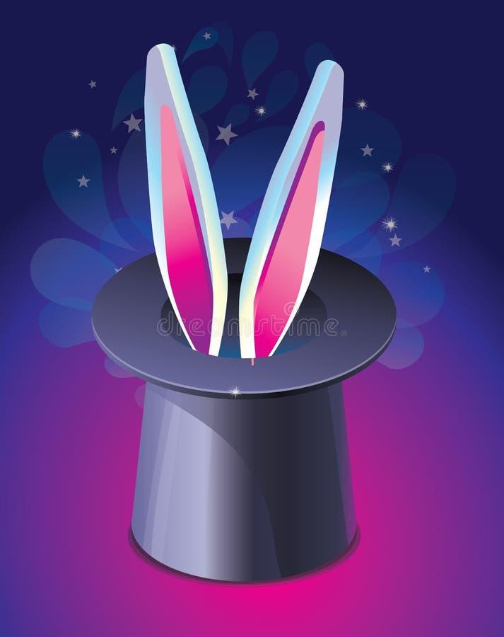 острословие кролика s яркого шлема ушей волшебное иллюстрация вектора