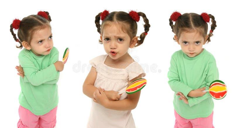 острословие малыша lollipop удерживания стоковая фотография rf
