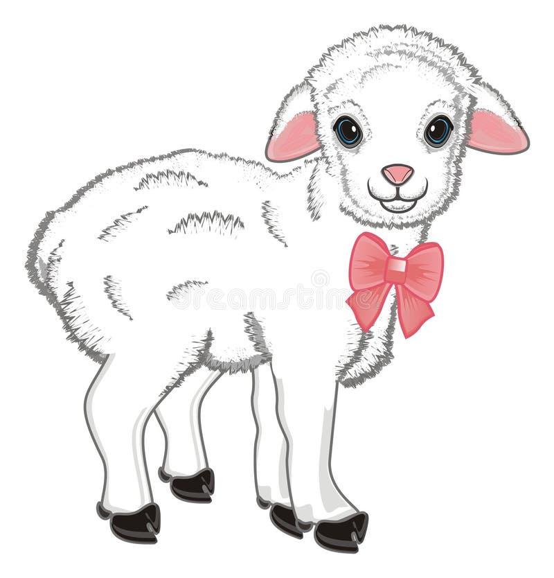 Острословие овец большой смычок иллюстрация штока