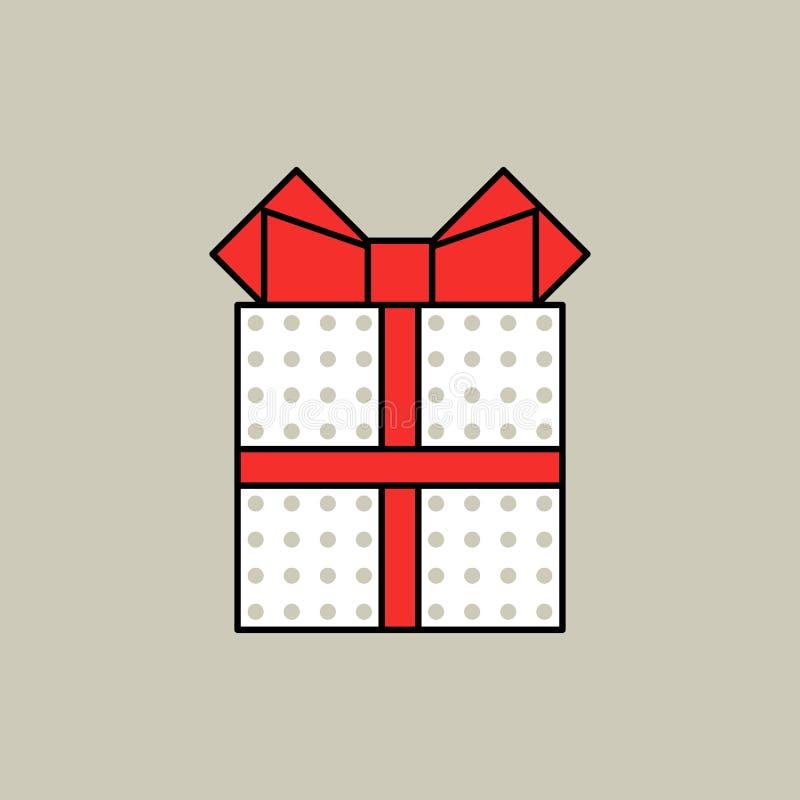 Острословие подарочной коробки смычок и точки иллюстрация штока