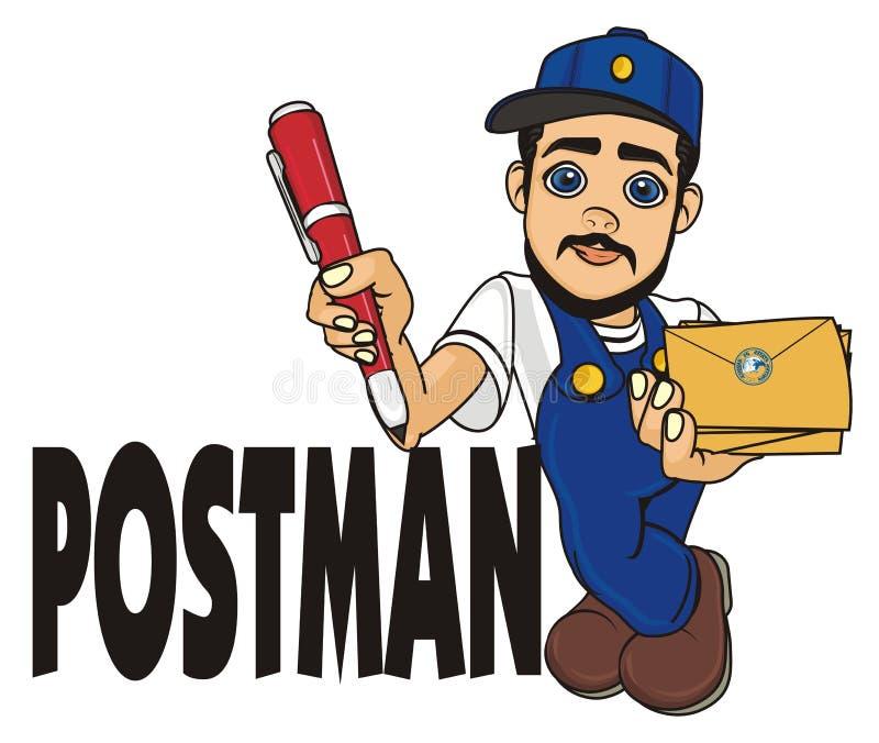 Острословие почтальона его имя бесплатная иллюстрация