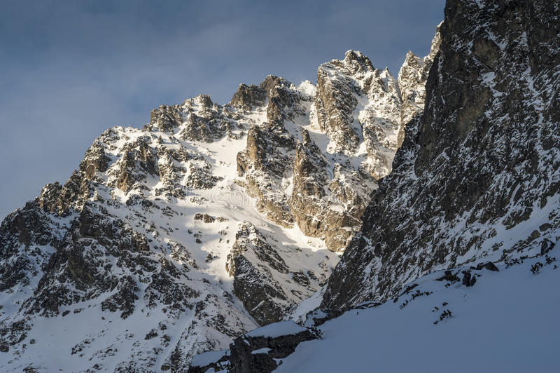 Острый край горы стоковое изображение