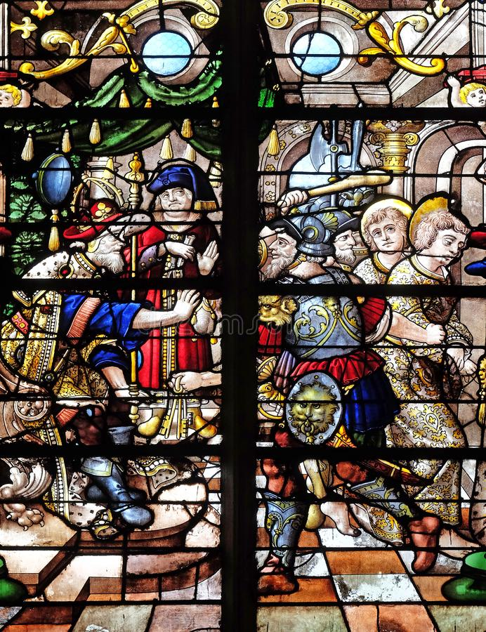 Осуждение Святого Gervais и Святого Protais стоковое фото