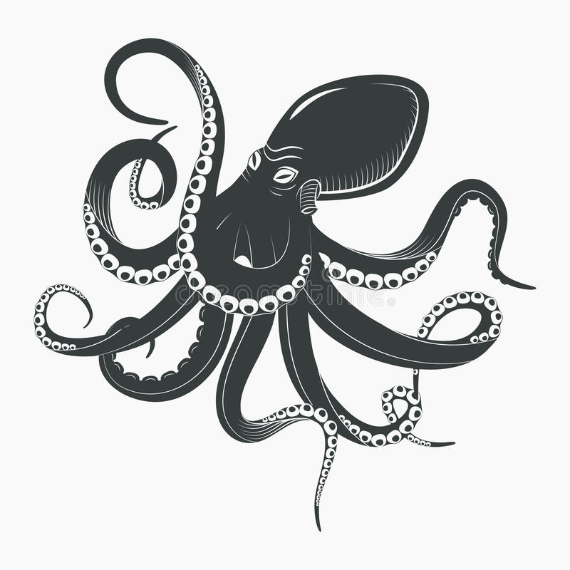 Осьминог океана или подводный кальмар бесплатная иллюстрация