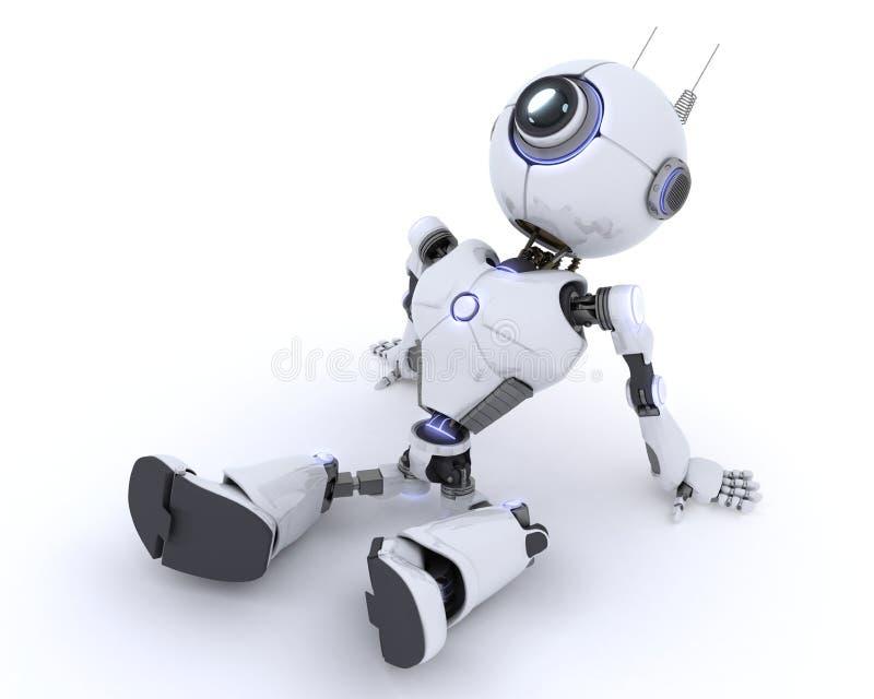 ослабляя робот иллюстрация вектора