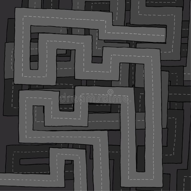 Осложненный хайвей иллюстрация вектора