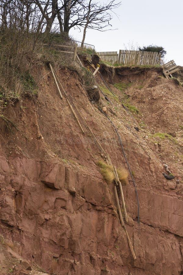 Отава падения скалы, Sidmouth стоковые изображения rf
