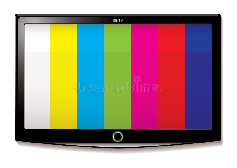 отборочное испытание tv lcd иллюстрация вектора