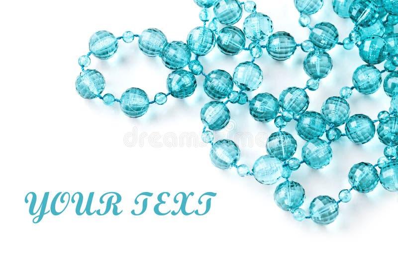 отбортовывает красивейший шнур ожерелья стоковое изображение rf