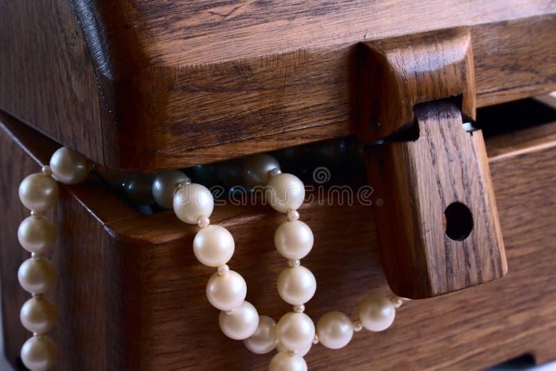 отбортовывает перлу ларца стоковое изображение