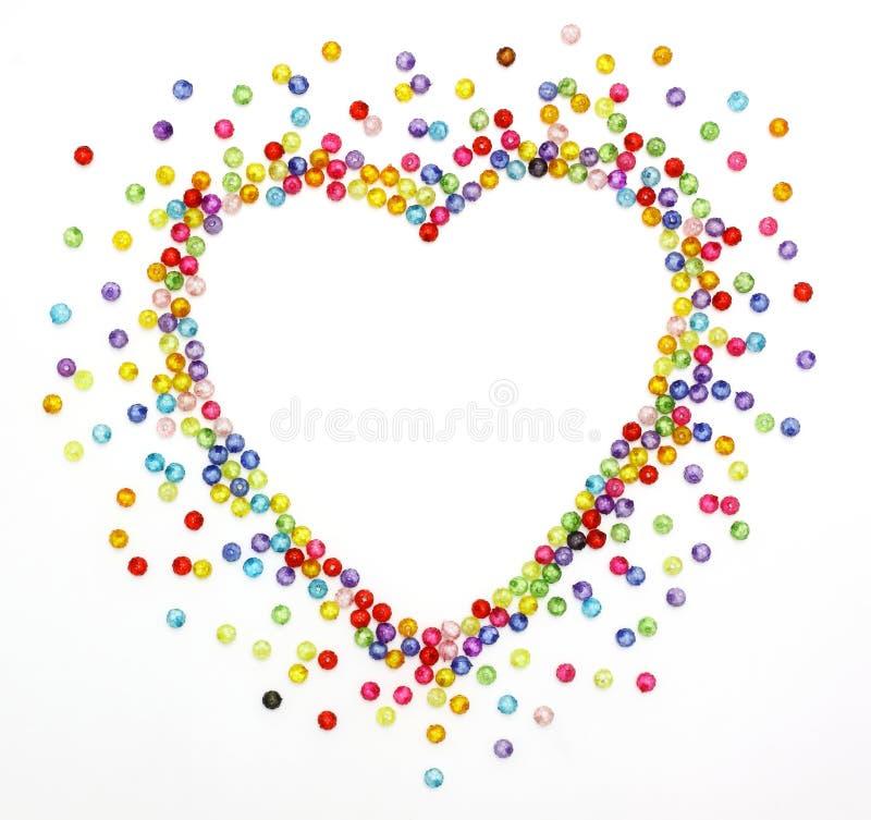 отбортовывает цветастую форму сердца стоковое фото rf