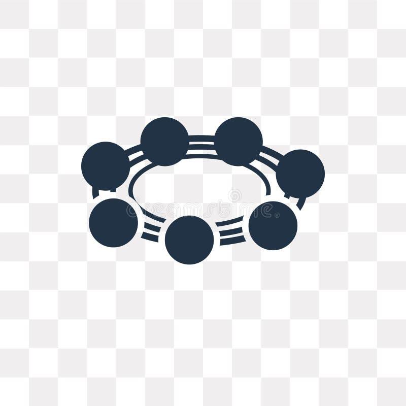 Отбортуйте значок вектора изолированный на прозрачной предпосылке, trans шарика иллюстрация вектора