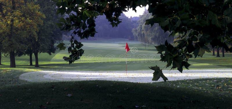 отверстие гольфа стоковое изображение rf