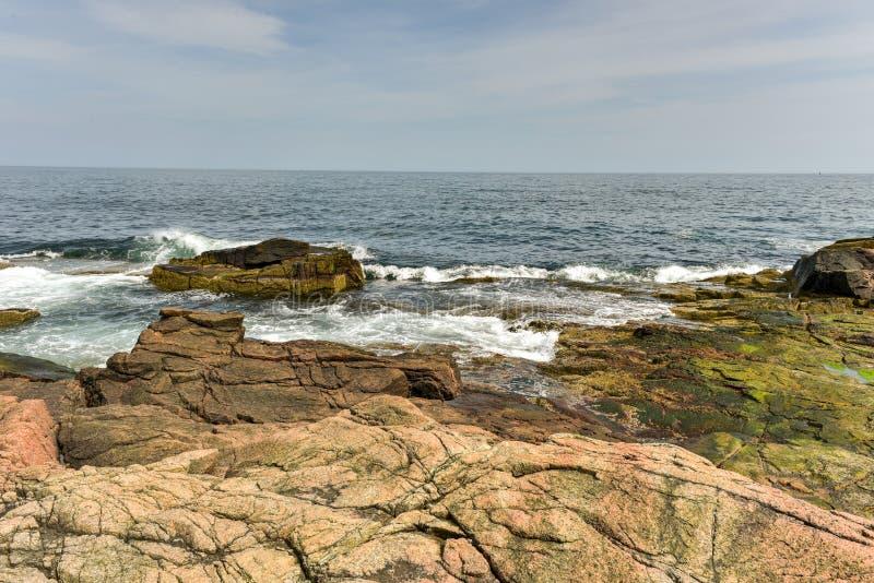 Отверстие грома - национальный парк Acadia стоковое фото rf