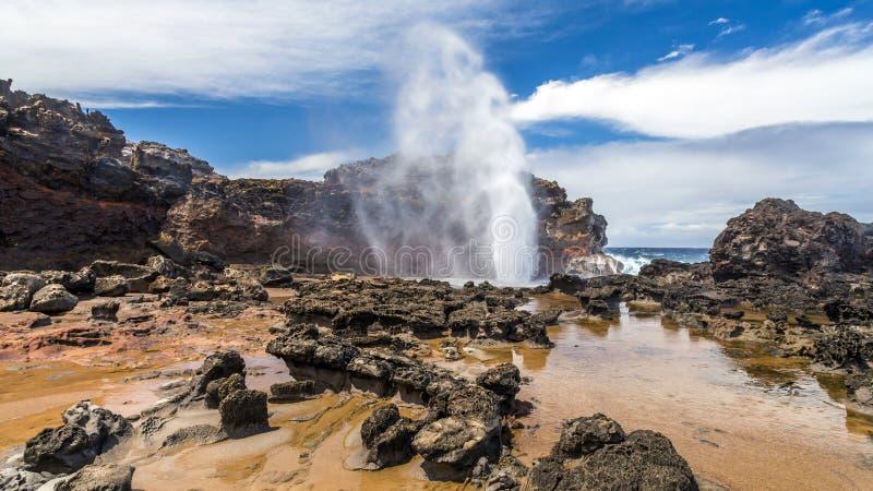 Отверстие Мауи дуновения Nakalele стоковые фото