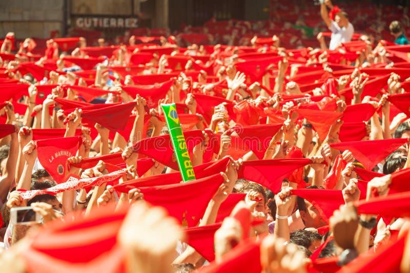 Отверстие празднества Сан Fermin стоковые изображения