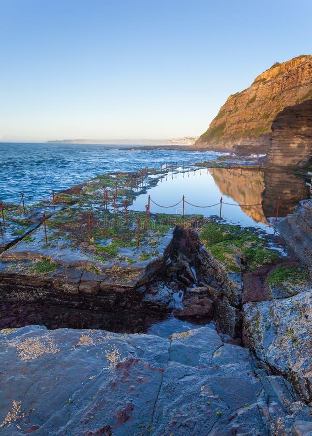 Отверстие привидения - Ньюкасл NSW Австралия стоковое изображение