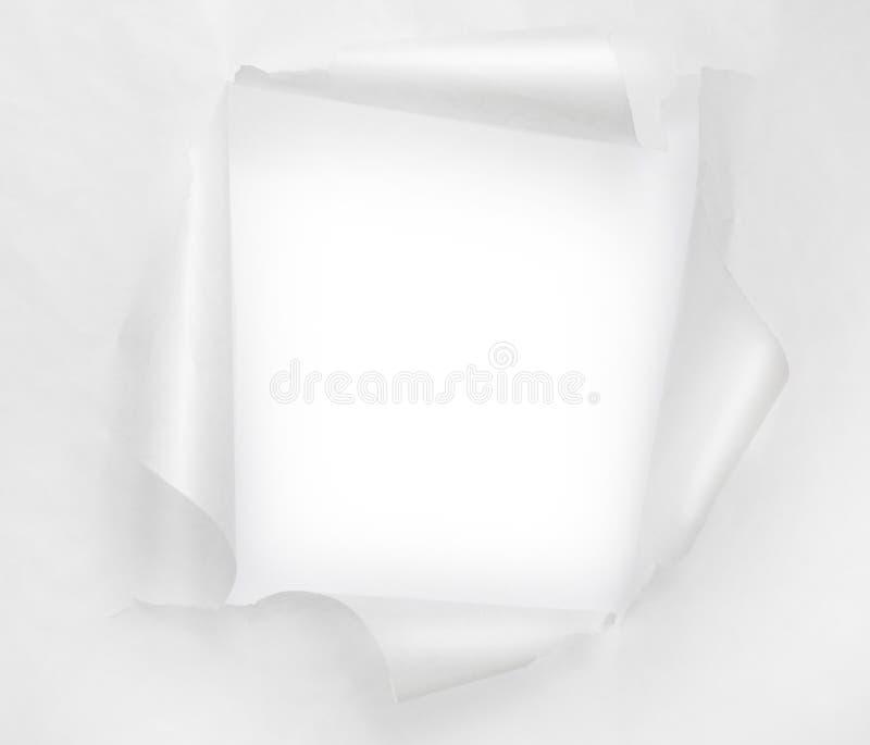 Отверстие прорыва бумажное стоковое изображение rf