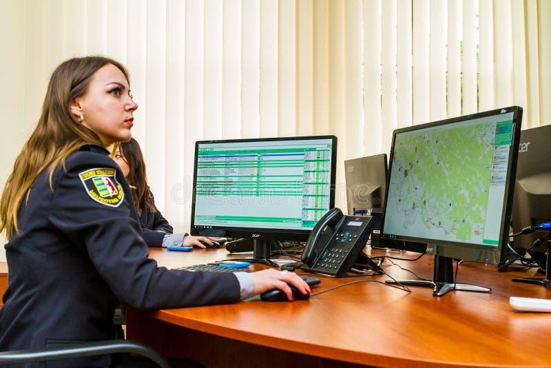 Отверстие современного центра ситуации национальной полиции  стоковое фото rf