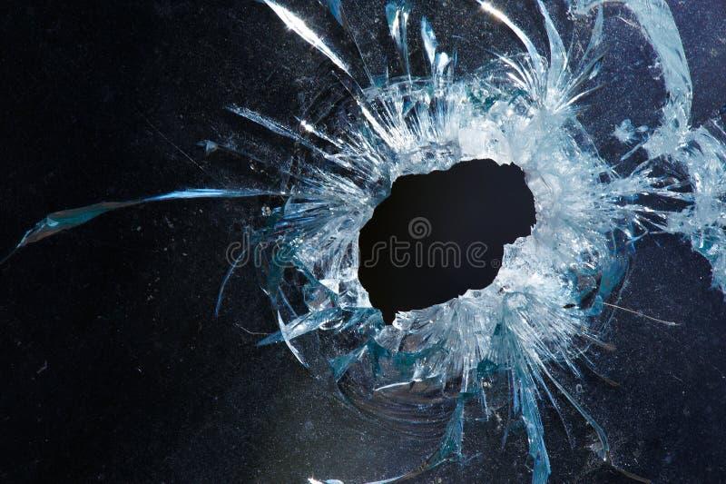 отверстие стекла пули стоковые изображения