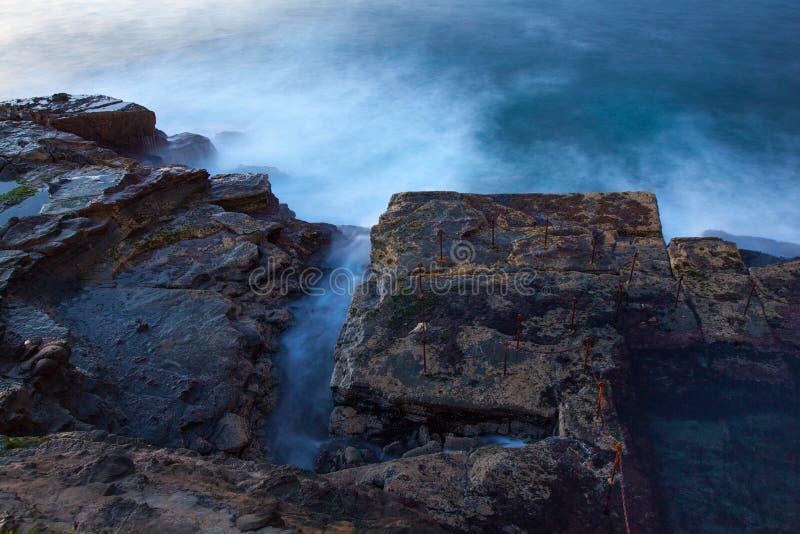 Отверстие тележки - Ньюкасл Австралия на восходе солнца стоковое изображение rf