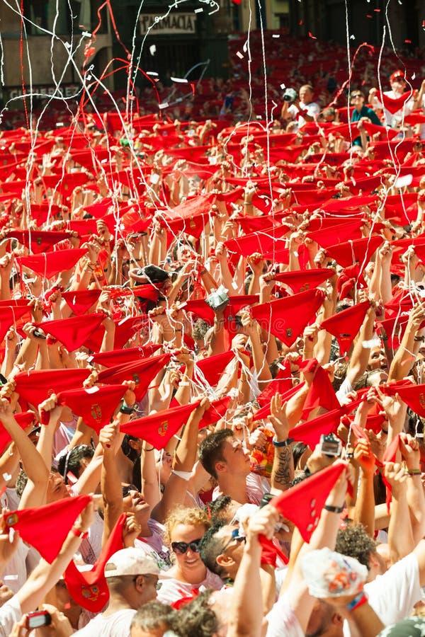 Отверстие фестиваля Сан Fermin стоковые фотографии rf