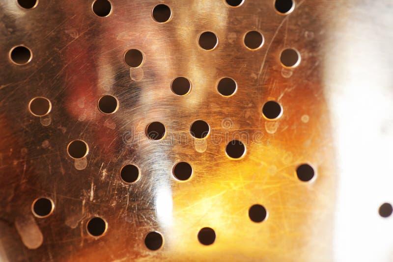 Отверстия в металлической поверхности стоковые изображения rf