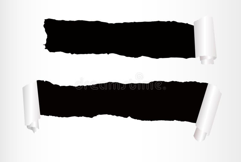 отверстия завертывают 2 в бумагу иллюстрация штока