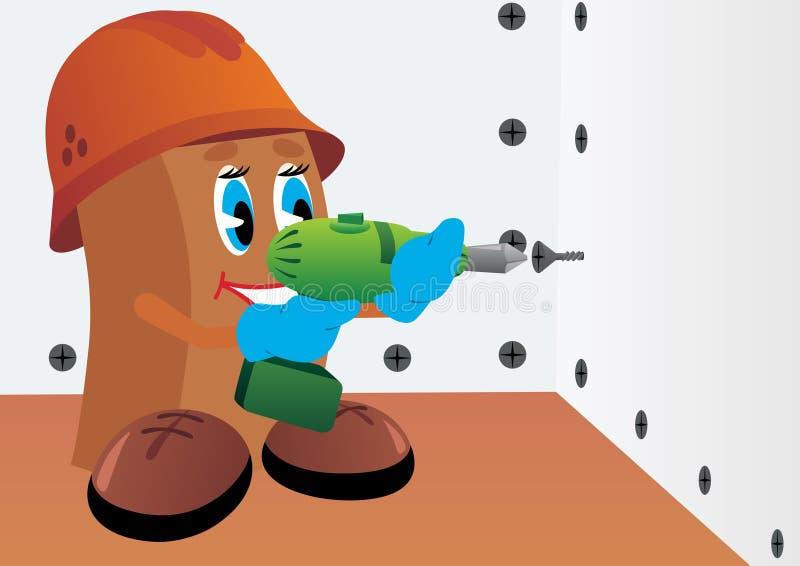 отвертка строителя иллюстрация штока