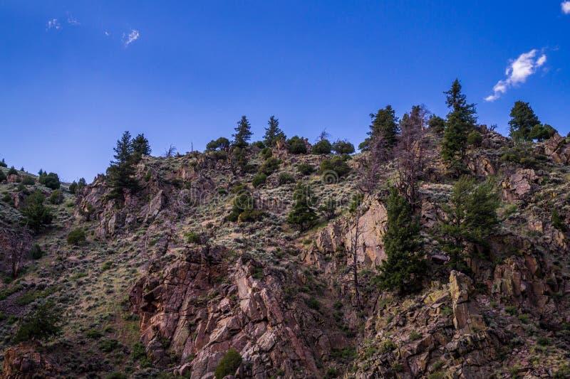 Отвесные крутые скалы в скалистых горах Колорадо, Соединенные Штаты стоковое изображение