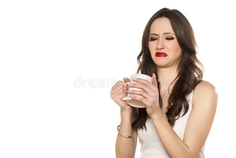 Отвратительное питье стоковое изображение