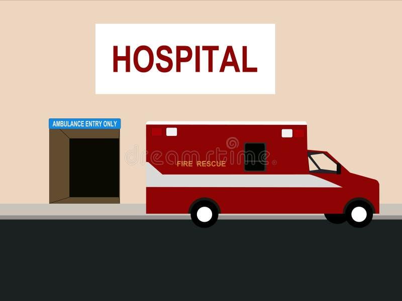 отделение скорой помощи машины скорой помощи иллюстрация вектора