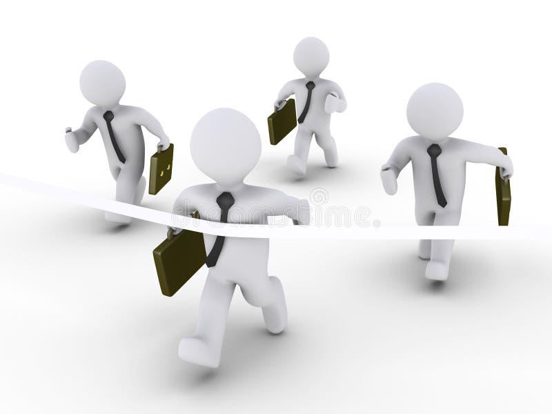отделки бизнесменов первое 4 одного участвуя в гонке бесплатная иллюстрация