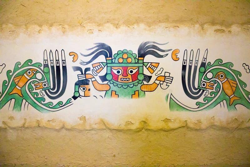 Отделки стен старой династии Chiclayo Перу Moche стоковые фото