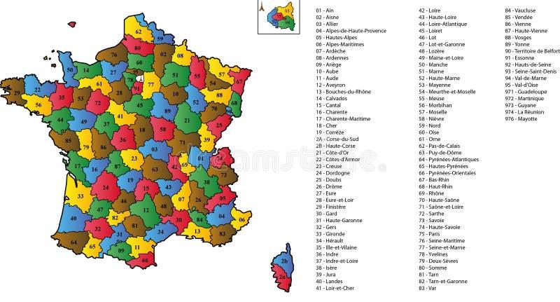 отделы Франция стоковые фото