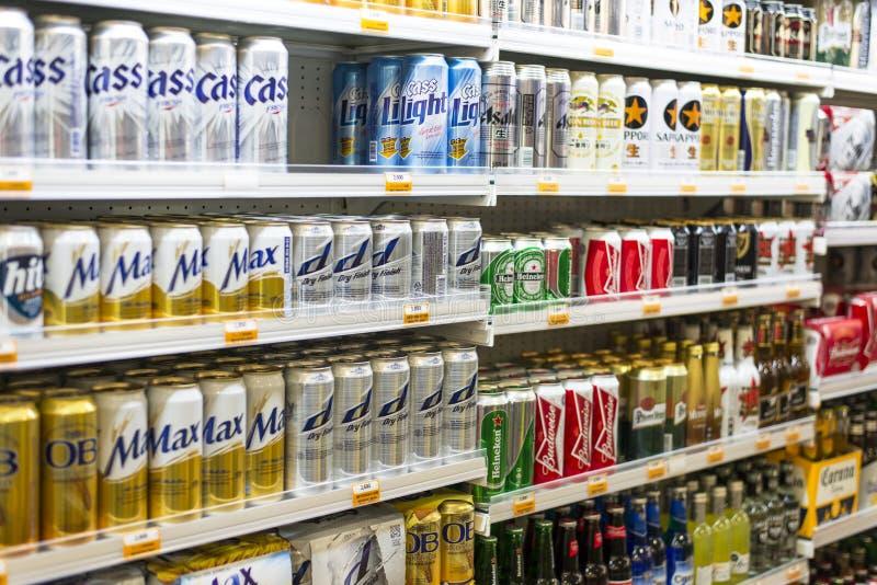 Отдел алкогольного напитка стоковые изображения