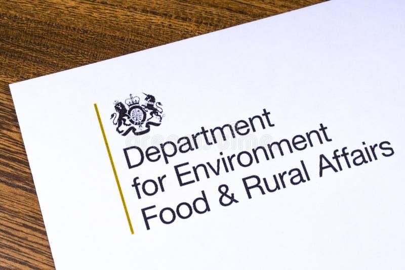 Отдел Великобритании для еды окружающей среды и сельских дел стоковые изображения rf