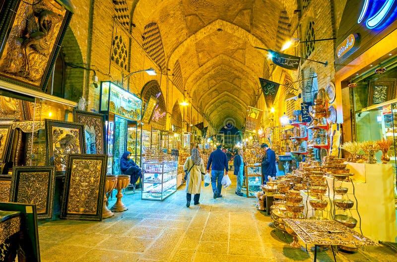 Отдел кузнеца гранд-базара в Isfahan, Иране стоковые фото
