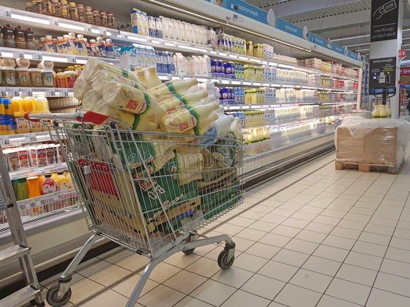 Отдел молочных продучтов и молока стоковое изображение rf