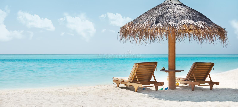 отдыхать изображения стула пляжа красивейший стоковое изображение rf