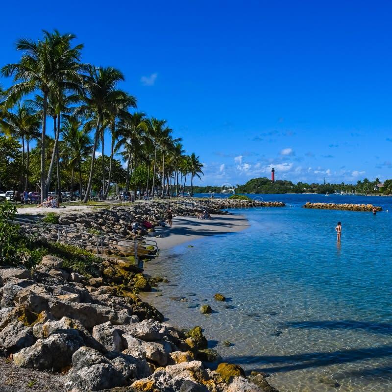 Отдыхающ в Юпитере, Флорида стоковые изображения rf
