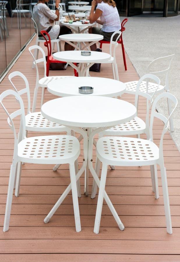 отдых кафа напольный стоковое изображение rf