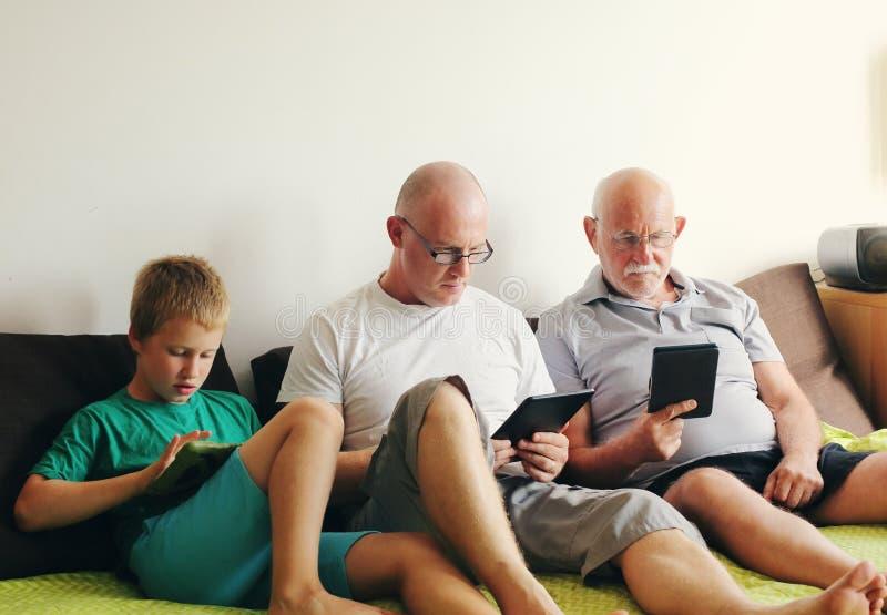 Отец, дед и сын стоковые фото