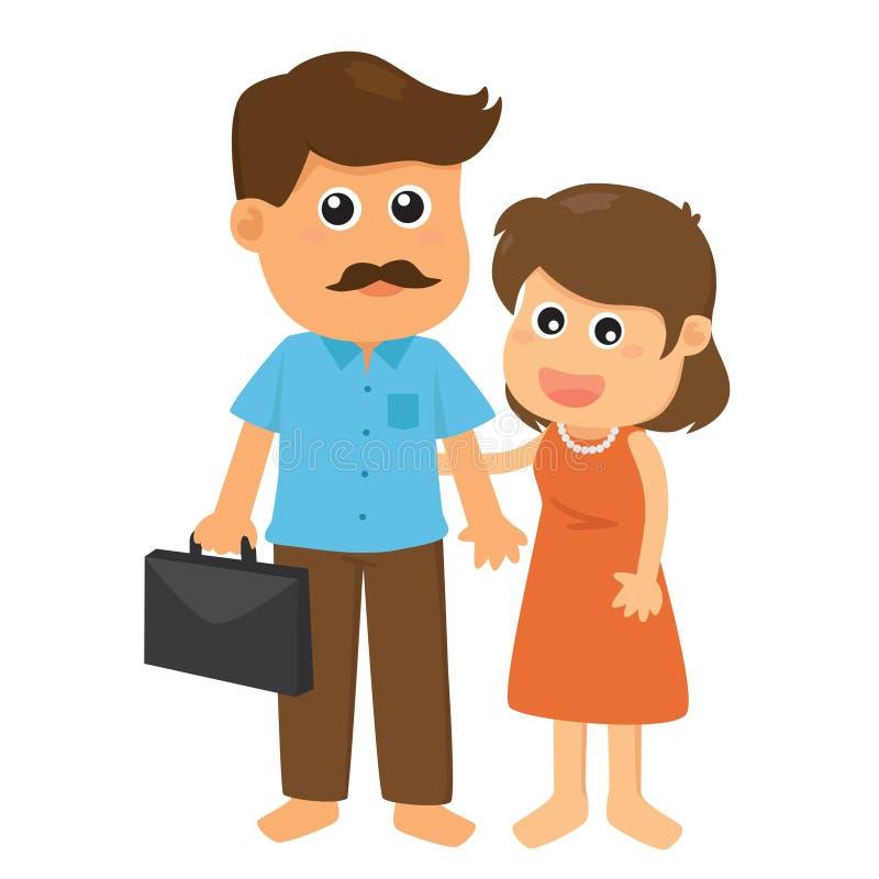 Отец и мать иллюстрация вектора