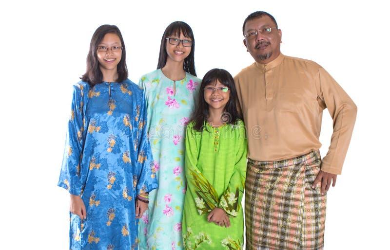 Отец и дочери Malay IV стоковое фото